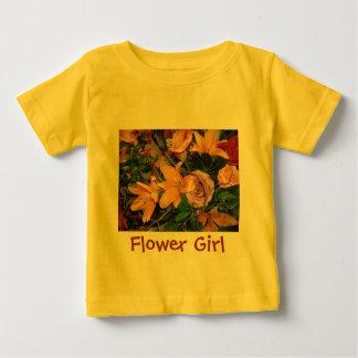 Blumen-Mädchen Baby T-shirt