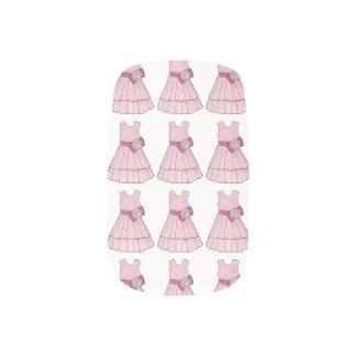 Blumen-Mädchen-bräutliche rosa Minx Nagelkunst
