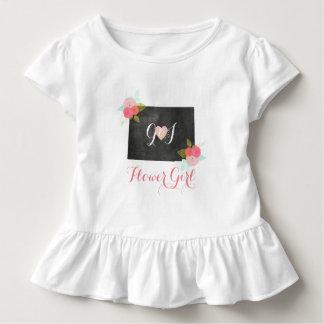 Blumen-Mädchen-Colorado-Staats-Rosa-Blumenhochzeit Kleinkind T-shirt
