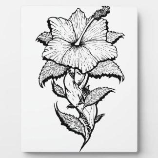 Blumen-Mädchen Fotoplatte
