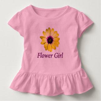 Blumen-Mädchen-Gänseblümchen-Hochzeit Kleinkind T-shirt