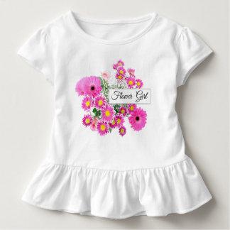 Blumen-Mädchen-Kleinkind-Rüsche-Hochzeits-T-Stück Kleinkind T-shirt