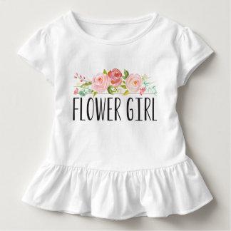 Blumen-Mädchen-Kleinkind-T-Stück | Brautjungfer Kleinkinder T-shirt