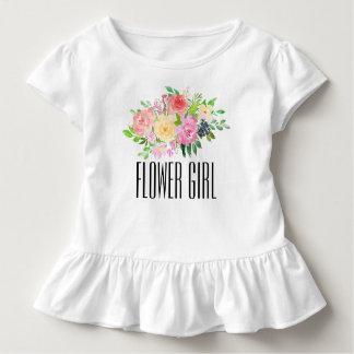 Blumen-Mädchen-Kleinkind-T-Stück scherzt Kleinkind T-shirt