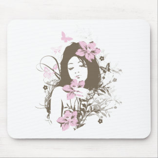 Blumen-Mädchen Mousepad