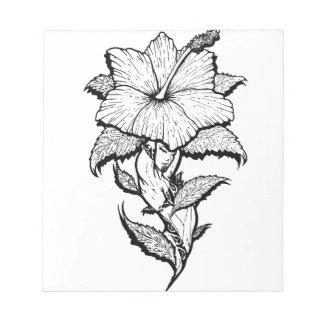 Blumen-Mädchen Notizblock