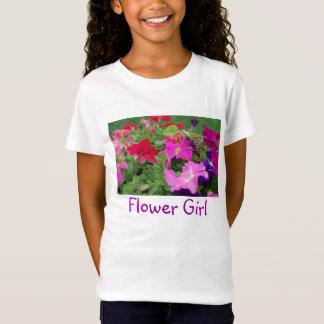 Blumen-Mädchen-Pfingstrosen T-Shirt