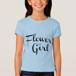 Blumen-Mädchen-Retro Skript-Schwarzes auf Blau Hemden
