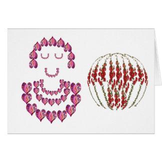 Blumen-Mädchen: Schatz durch rosa Blumenblätter Karte
