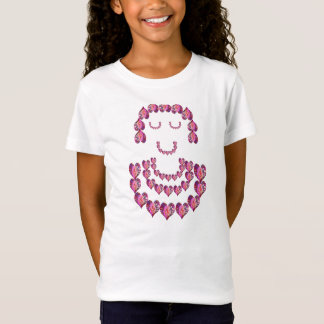 Blumen-Mädchen: Schatz durch rosa Blumenblätter T-Shirt
