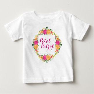 Blumen-Mädchen-Shirt-Blumenblatt-Patrouillen-Shirt Baby T-shirt