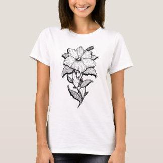 Blumen-Mädchen T-Shirt