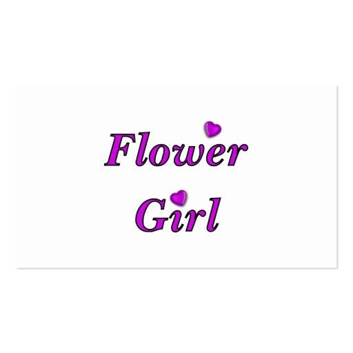 Blumen-Mädchen Visitenkarten Vorlage