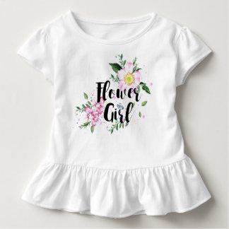 Blumen-Mädchenblumenwatercolor-Hochzeit Kleinkind T-shirt