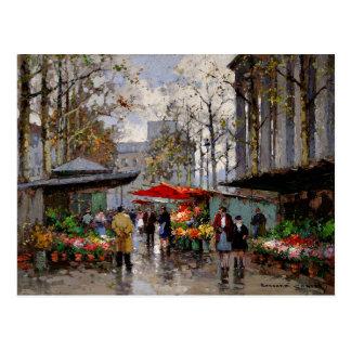Blumen-Markt am La Madeleine Postkarte