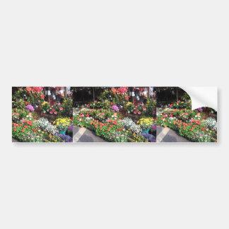 Blumen-Markt an Nizza in Frankreich Auto Sticker