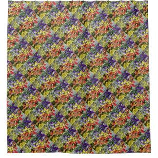 Blumen-Matrix Duschvorhang