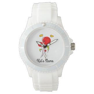 Blumen mit Herzen Armbanduhr