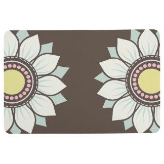 Blumen-modernes Blumenmuster Bodenmatte