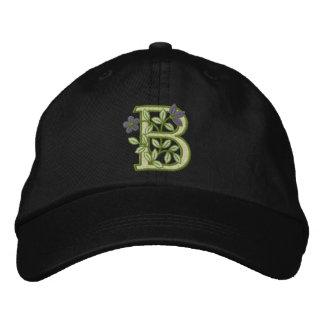 Blumen-Monogramm-Initiale B Bestickte Mütze