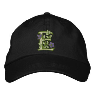 Blumen-Monogramm-Initiale E Baseballcap