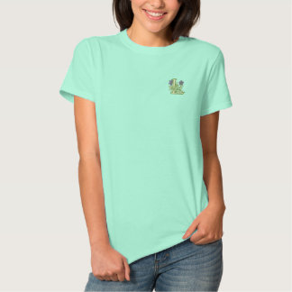 Blumen-Monogramm-Initiale L Besticktes T-Shirt