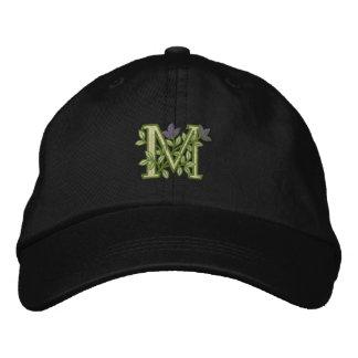 Blumen-Monogramm-Initiale M Besticktes Baseballcap