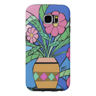 Blumen-Mosaik Samsung rufen Fall an