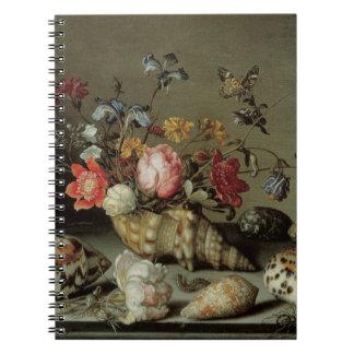 Blumen, Muscheln und Insects Balthasar van Der Ast Notizblock