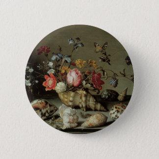 Blumen, Muscheln und Insects Balthasar van Der Ast Runder Button 5,7 Cm