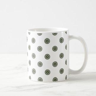 Blumen-Muster 4 Zypresse Kaffeetasse