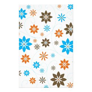 Blumen-Muster Büropapiere