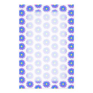 Blumen-Muster Personalisiertes Büropapier