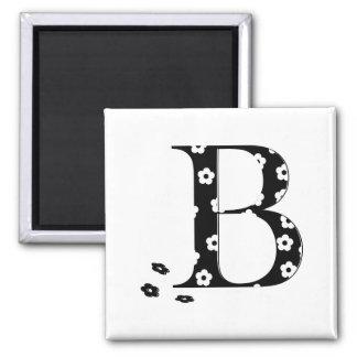 Blumen-Muster-Buchstabe B Quadratischer Magnet