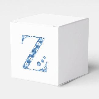 Blumen-Muster-Buchstabe Z (blau) Geschenkschachtel