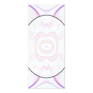 Blumen-Muster in Orange und in Purpurrotem 10,2 X 23,5 Cm Einladungskarte