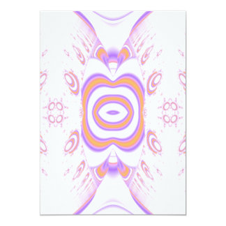 Blumen-Muster in Orange und in Purpurrotem 12,7 X 17,8 Cm Einladungskarte