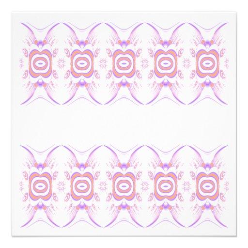 Blumen-Muster in Orange und in Purpurrotem Personalisierte Ankündigungskarten