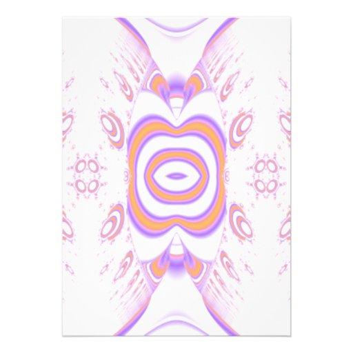Blumen-Muster in Orange und in Purpurrotem Ankündigung