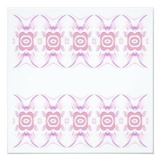Blumen-Muster in Orange und in Purpurrotem Quadratische 13,3 Cm Einladungskarte
