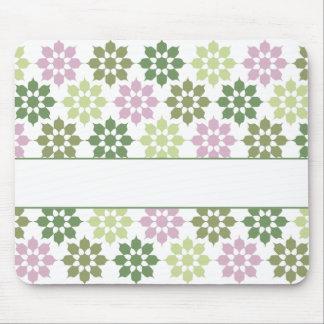Blumen-Muster mousepad, fertigen besonders an
