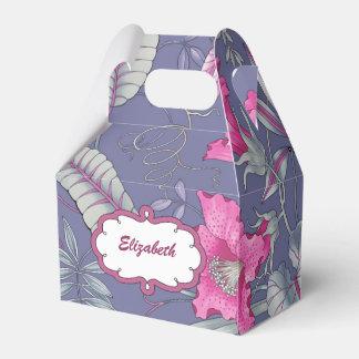 Blumen-Muster-Name-Geschenk, Bevorzugungs-Kästen Geschenkschachteln