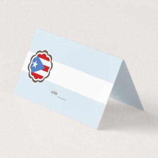 Blumen-Party, puertorikanische Flagge Platzkarte