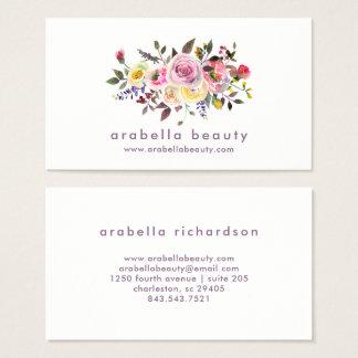 Blumen| Pastell-Rosen des modernen Watercolor- Visitenkarten