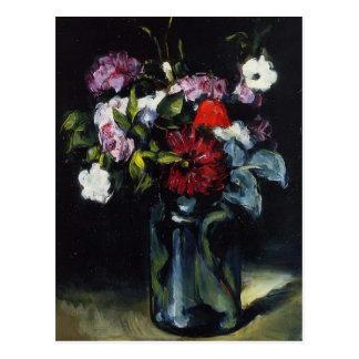 Blumen Pauls Cezanne- in einem Vase Postkarte