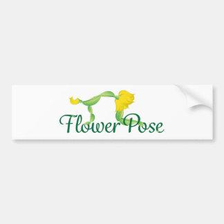 Blumen-Pose-Logo Autoaufkleber