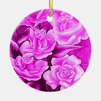 BLUMEN Postkarte IN ROSA Keramik Ornament