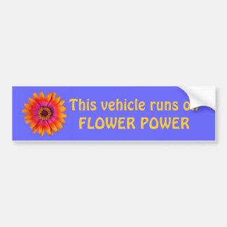 Blumen-Power-Autoaufkleberblau, dieses Fahrzeug… Autoaufkleber