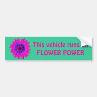 Blumen-Power-Autoaufklebergrün, dieses Fahrzeug… Autoaufkleber
