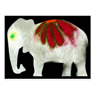 Blumen-Power-Elefant Postkarte